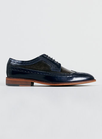 Delta Two Tone Brogue Shoes