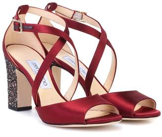 Jimmy Choo Carrie 85 satin sandals