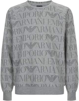Giorgio Armani Tonal Logo Sweatshirt