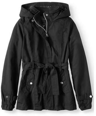 ONLINE Belted Cotton Hooded Anorak Jacket (Little Girls & Big Girls)