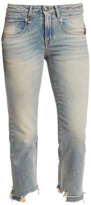 R 13 Washed Straight Leg Jeans