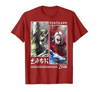 Nintendo Zelda Link and Ghirahim Water Color Panel T-Shirt