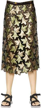 Marc Jacobs Sequin Embroidered Cotton Guipure Skirt