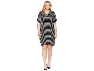 Calvin Klein Plus Plus Size Sleeveless V-Neck Stripe Dress
