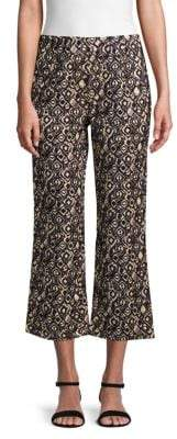 Free People Graphic Wide-Leg Cropped Pants