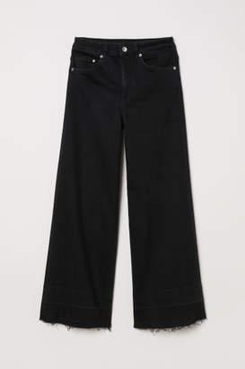 H&M Denim Culottes High waist - Black