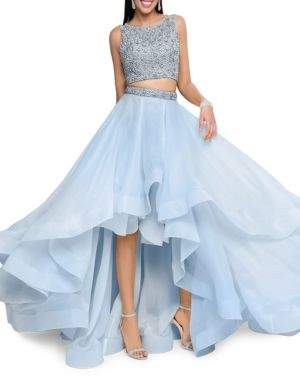 Glamour by Terani Couture Two-Piece Embellished Prom Dress Set