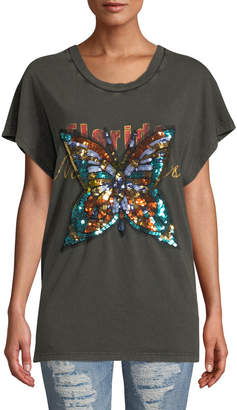 Free People We The Free Sequined Butterfly Tee