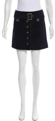 Intermix Suede Mini Skirt w/ Tags