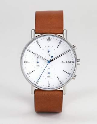 Skagen SKW6462 Signatur Leather Watch