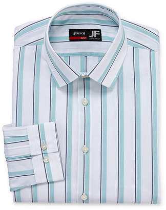 Jf J.Ferrar Easy Care Stretch Mens Point Collar Long Sleeve Stretch Dress Shirt - Slim