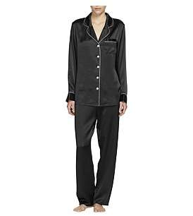 Ginia Silk Pj With Contrast Piping