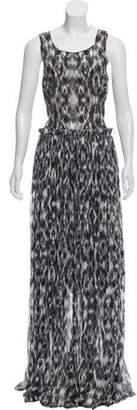 Derek Lam Printed Silk Dress