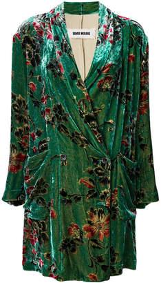 Uma Wang double breasted floral coat