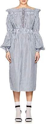 Teija Women's Striped Cotton Off-The-Shoulder Dress