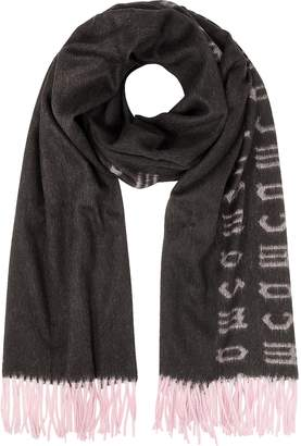 McQ Repeat Side Logo Wool Scarf