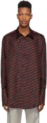 Yang Li Black and Red Oversized Shirt
