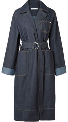 Elizabeth and James Fletcher Belted Denim Coat - Dark denim