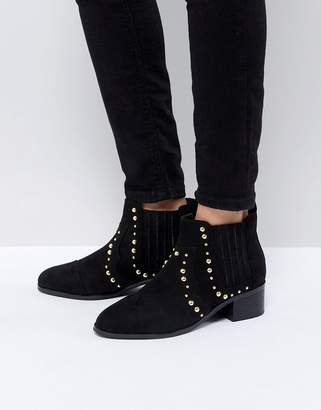St Sana Studded Low Heel Ankle Boot