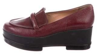 Robert Clergerie Lizard Platform Loafers