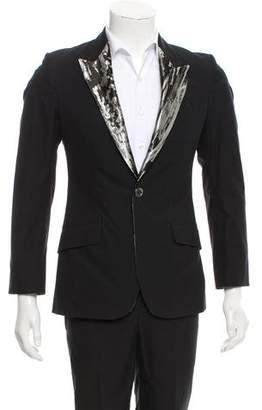Alexander McQueen Brocade Lapel Two-Piece Suit