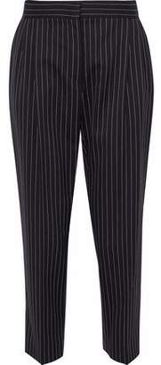Max Mara Cropped Striped Wool-Blend Twill Tapered Pants