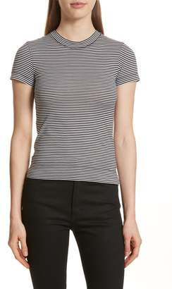 Theory Apex Stripe Crop Tee