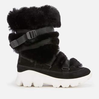 UGG Women's Misty Faux Fur/Waterproof Boots - Black