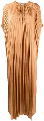 Stella McCartney cape-sleeve pleated dress