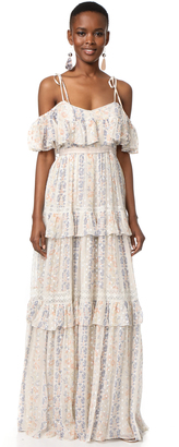 Needle & Thread Floral Stripe Maxi Dress $599 thestylecure.com