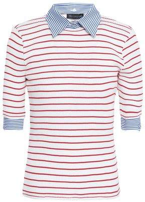 Piazza Sempione Striped Ribbed Cotton Top