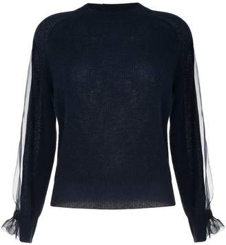 Onefifteen sheer panel sweater