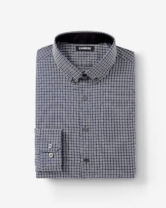 Express Extra Slim Plaid Performance Shirt