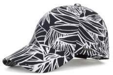 BOSS Hugo Floral-pattern baseball cap in cotton One Size Open Blue