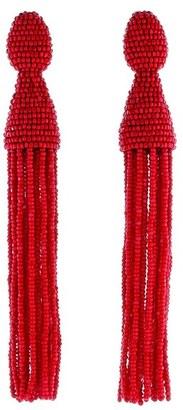 Women's Oscar De La Renta Long Beaded Tassel Drop Earrings $395 thestylecure.com