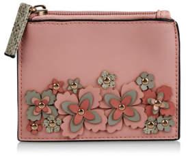 George Pink Floral Applique Coin Purse