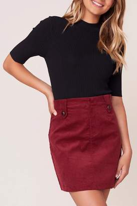 BB Dakota Corduroy Mini Skirt