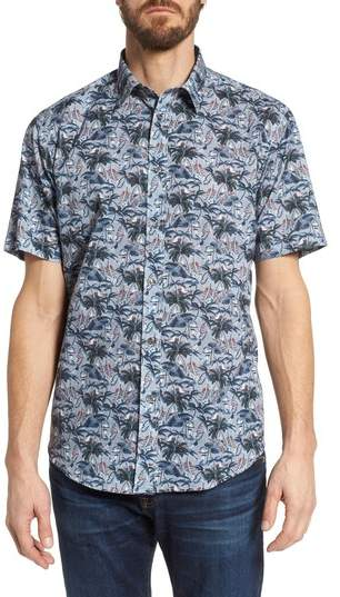 Coastaoro Los Palmas Regular Fit Print Short Sleeve Sport Shirt
