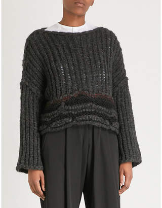 Isabel Benenato Alpaca and wool-blend chunky-knit jumper