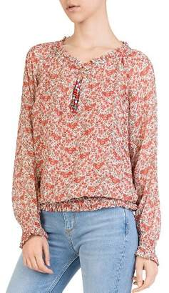 The Kooples Very Vintage Floral-Print Silk Top