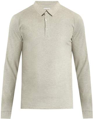 HAMILTON AND HARE Long-sleeved cotton polo shirt