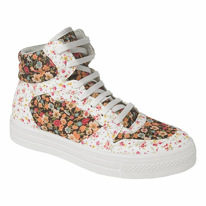 Floral High Top Trainers