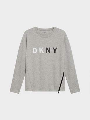 DKNY Logo Sweatshirt With Zipper