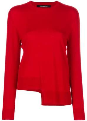 Neil Barrett asymmetric hem jumper