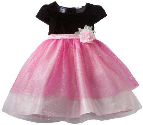 So La Vita Girls 2-6x Layered Tulle With Flower Detail Dress