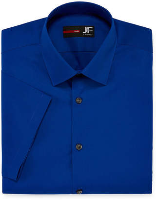Jf J.Ferrar JF Stretch Short-Sleeve Broadcloth Slim Fit Dress Shirt
