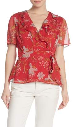 Vince Camuto Wildflower Wrap Blouse