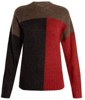Isabel Marant étoile - Davy Colour Block Knit Sweater - Womens - Grey Multi