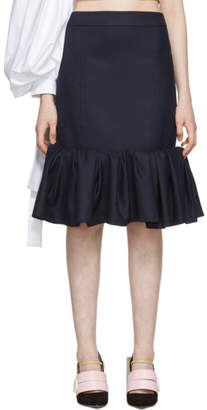 Jacquemus Navy La Jupe Froncee Skirt