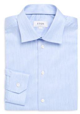 Textured Slim-Fit Cotton Dress Shirt $245 thestylecure.com